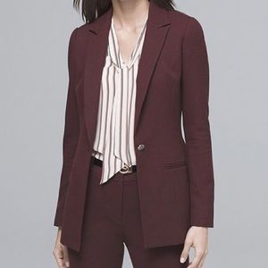 White House Black Market Port Luxe Longline Blazer